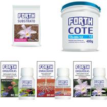 Kit P/ Replante De Orquideas Enraizador + Substrato + Adubos