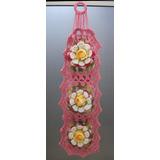Porta Papel Higiênico De Crochê De Flores Alta Qualidade
