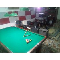Mesa De Snooker Brunswick Com Capa Jogo De Bolas E Taqueira.