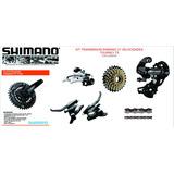 Kit Transmision Shimano 21 Vel Mtb Con Cadena Bicicletas