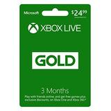 Microsoft Xbox Live 3 Mes Gold Card (tarjeta De Física)