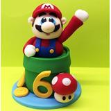 Promoção - Topo De Bolo Mario Bros Em Biscuit