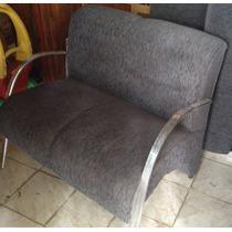 Conjunto De Sofa 2 E 3 Lugares Com Pés Cromados
