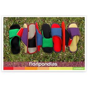 Floripondias Arándano Pantuflas Con Suela De Goma Hombre