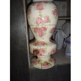 Filtro De Água Louça Porcelana Floral Raro Anos 60 Vintage