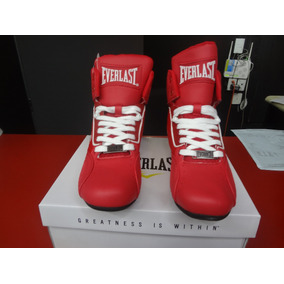 Zapato P/box Everlast Rojo/blanco Media Bota Dama O Niño