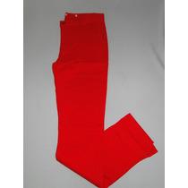 Calças Fem. Sarja Color Creme,vermelha Ou Azul T.36a46! Nova