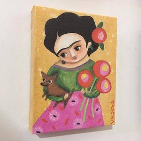 Cuadro En Lienzo Canvas 380 Grs - Frida 15x20cm