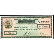 Bolivia 500000 Bolivianos,año 1984,bono-cheque Sin Circular