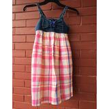 Vestido Infantil Alphabeto Girls Quadriculado Tam.6a