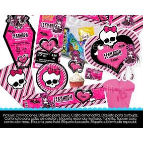 Kit Imprimible Etiquetas Baratas Oferta Monster High