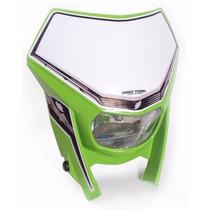 Farol Carenagem Off Road Universal Pro Tork Verde C/lampada