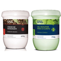 Kit Pimenta Negra C/ Gel Redutor Para O Corpo D