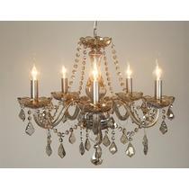 Lustre De Cristal Maria Tereza 6 Lamp.e14 W/k5 Champagne
