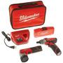 Kit Parafusadeira 1/4 12v Lanterna E Bits 2482-259 Milwaukee