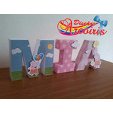 Letras 3d Decoradas Cartulina, Fiestas Eventos, Baby Shower,