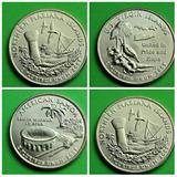 Monedas Americanas Cuartos De Dolar 2009 Colonias