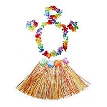 Disfraz Para Niña Elástico Hawaiano Del Bailarín De Hula De