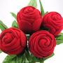 Caja De Regalo De Rosa. Aretes Anillo, Ideal Promoción, Boda