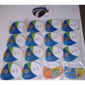 Moedas Olimpíadas No Blister Coleção Completa Com As 17 Und.
