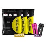 Combo Whey Pro Concentrado - 4500g - Max Titanium + Brindes
