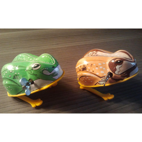 Ranita Antigua Juguete Hojalata A Cuerda Japonesa Tin Toy