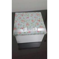 Caixa Em Mdf 15x15x10 Decorada Para Xícaras