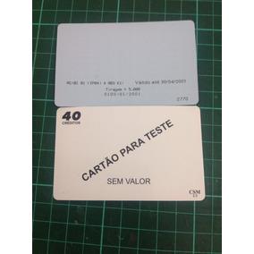 Cartao Telefônico Raro De Teste Da Telemar. Tiragem 5000