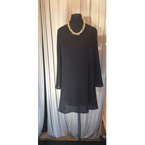 Vestido Suelto Corto Con Mangas Gasa Forrado Art 501