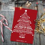 Cartão De Natal Personalizado Arvore