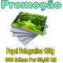 300 Folhas P\fotográfico 135g A4 Gloss P\dágua Não É Adesivo