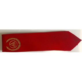 Gravata Vermelha Maçônica Mestre De Marca - Real Arco