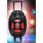 Caixa Som Amplificada Portátil Bluetooth Usb Alça Microfone