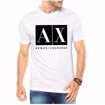 Camiseta Camisa Armani Exchange Masculina -100% Algodão