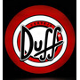 Luminoso Decorativo Cerveja Duff Com Led E Fonte 37cm
