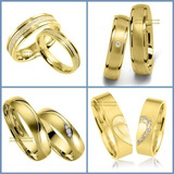 Exclusivas Argollas De Oro Amarillo Plata Matrimonio Regalo