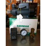 Kit Bomba Agua 1/2 Hp Shimge Mas Pulmon De 24 Lts