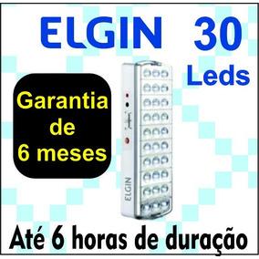 Luminária De Emergência C/ 30 Leds 2w C/ Adesivo- Elgin