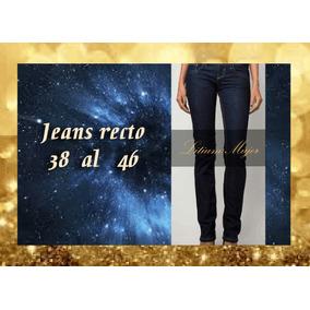 Jeans Recto Mujer Calce Perfecto Directo De Fábrica