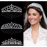 Tiara Corona Diadema Tocado Novia Quinceañer 15 Reina Fabans