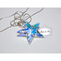 Collar Swarovski Star 40mm Plata, Estrella Swarovski