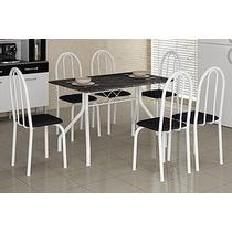 Mesa De Cozinha Granitada 6 Cadeiras 1,40 ( Somente Rj)