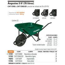 Carretilla Angosta De 5ft³ Con Llanta Imponchable. Truper