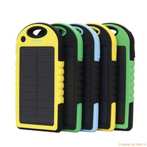 Cargador Bateria Emergencia Powerbank Solar De 5000 Mah!