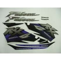 Kit Adesivo Faixa Moto Falcon 2001 01 Prata 481