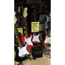 Pack Combo Guitarra Electrica Strato Kansasc/amplificad
