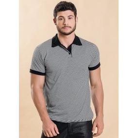 Camisa Polo Listrada Masculina Promoção - Roupa P M G Gg