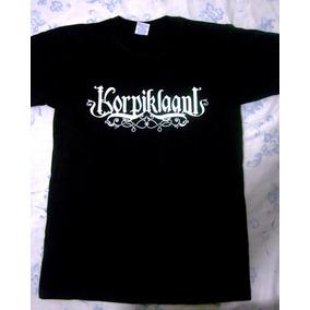 Franelas Negras Logo Banda Korpiklaani (metal)