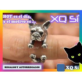 Xqsí Anillo Diseño Bulldog Francés Regalo Bijou Animal