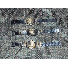 Accesorios D Lucha Libre Paquete De 3 Cinturones Para Muñeco